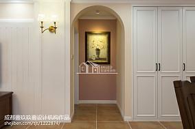 大气78平美式三居装修美图玄关设计图片赏析