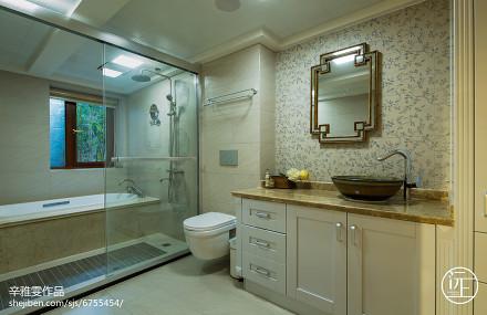 质朴81平美式复式卫生间布置图卫生间