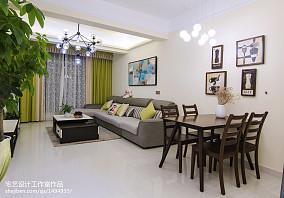 热门88平米二居客厅地中海效果图片