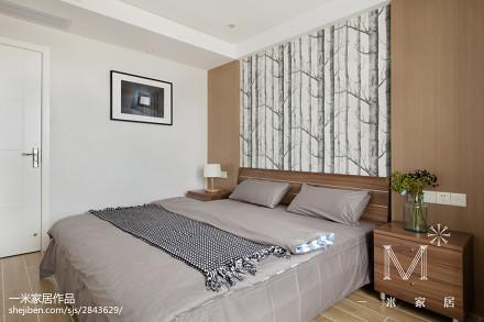 2018面积72平小户型卧室现代装修图