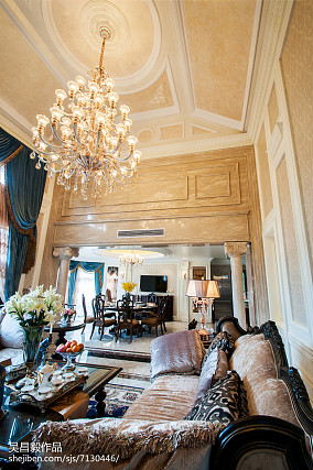 温馨380平欧式别墅实景图片别墅豪宅欧式豪华家装装修案例效果图