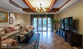 热门143平米欧式别墅客厅效果图别墅豪宅欧式豪华家装装修案例效果图