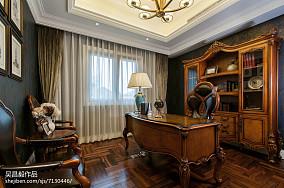 精美120平米欧式别墅书房装饰图别墅豪宅欧式豪华家装装修案例效果图