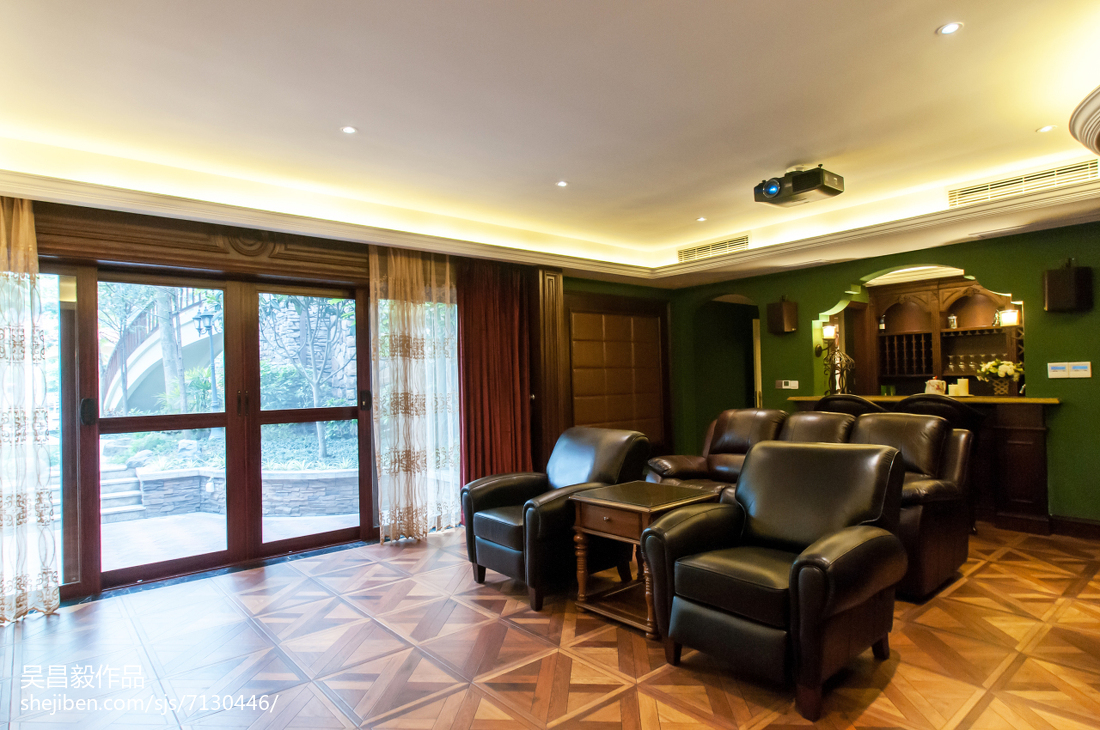 家装欧式风格视听室装修效果图功能区欧式豪华功能区设计图片赏析