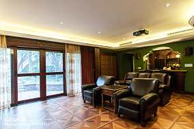 家装欧式风格视听室装修效果图别墅豪宅欧式豪华家装装修案例效果图
