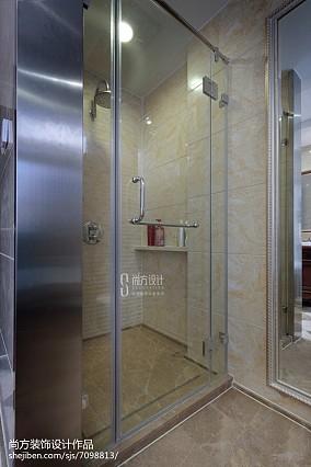 2018115平米美式别墅卫生间装修效果图片