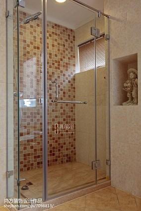 精选130平米美式别墅卫生间装修设计效果图片大全