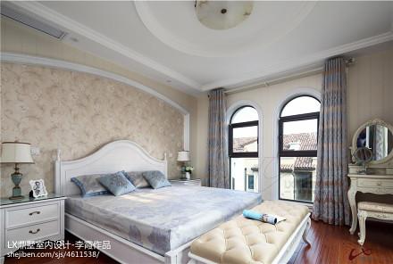 平米美式别墅卧室实景图卧室