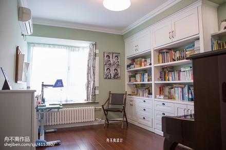 精美面积125平别墅书房美式设计效果图