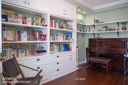 精美面积130平别墅书房美式设计效果图