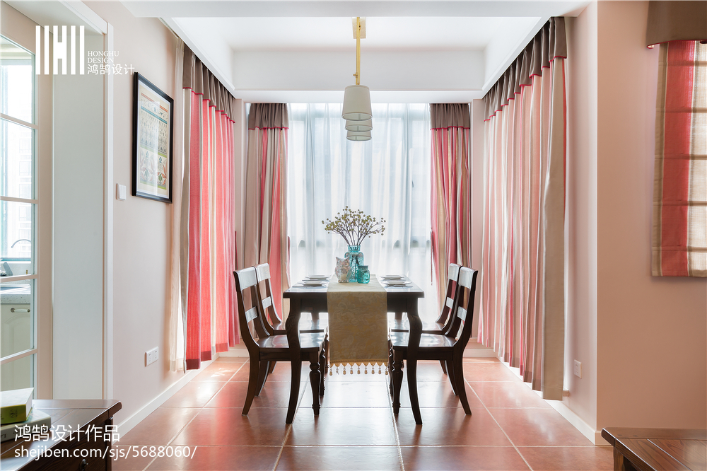 清新美式格调餐厅布置厨房美式经典餐厅设计图片赏析