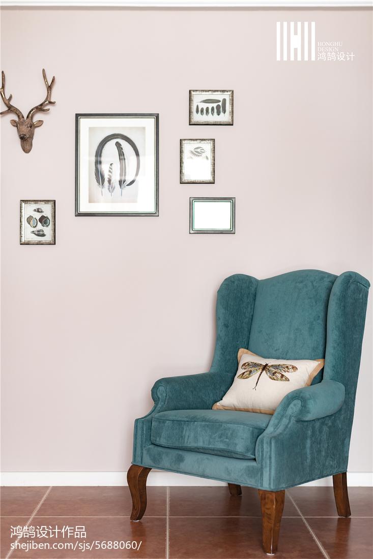 精美面积90平美式三居过道装修图片欣赏客厅美式经典客厅设计图片赏析