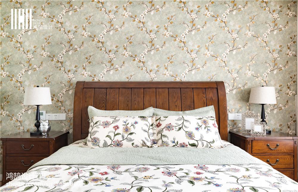 2018精选大小92平美式三居卧室装修设计效果图片欣赏卧室美式经典卧室设计图片赏析