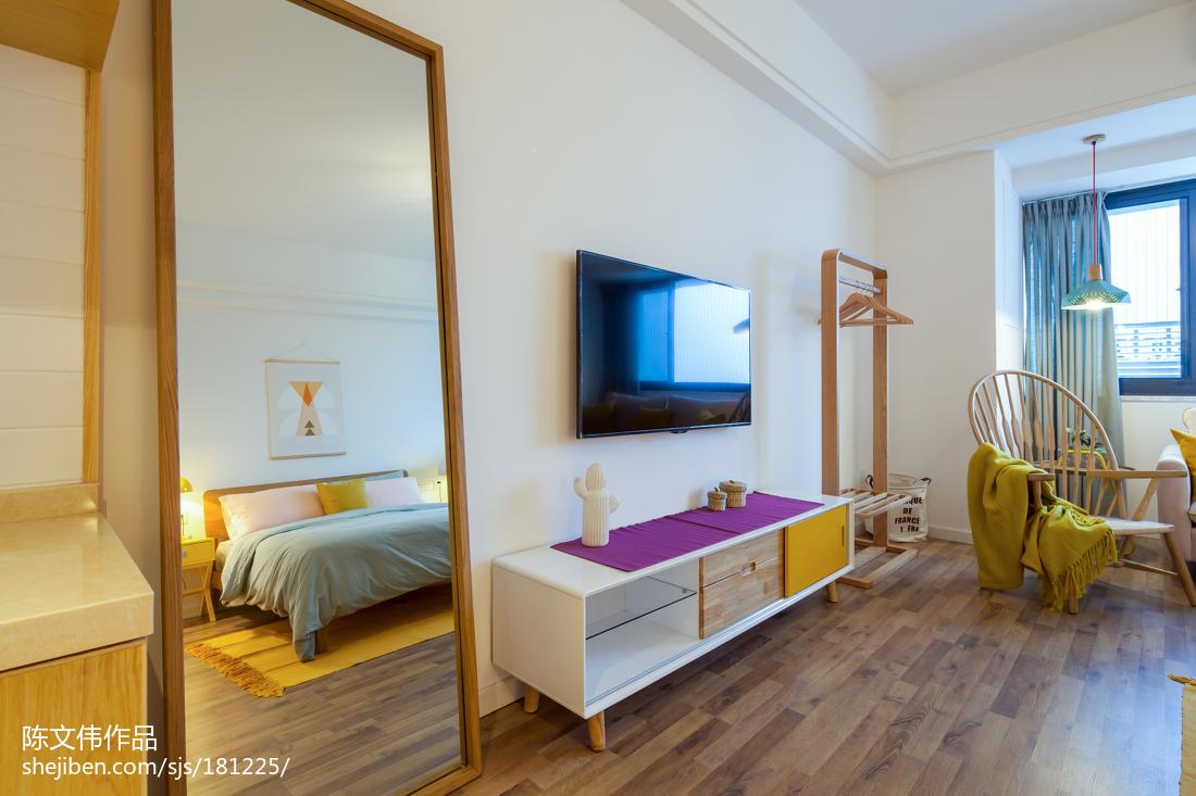 家装北欧风格背景墙装修卧室北欧极简卧室设计图片赏析