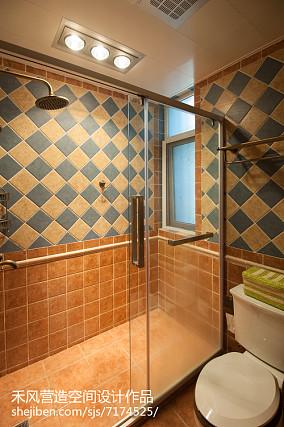 精美面积94平美式三居卫生间装修实景图片欣赏
