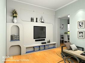 热门面积77平小户型客厅简约效果图片欣赏