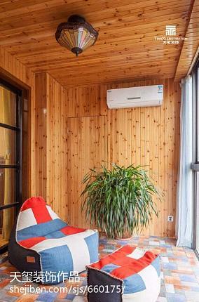 精美98平米三居阳台美式装饰图
