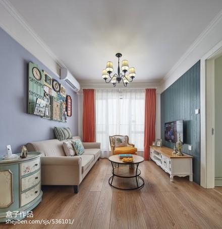热门90平方二居客厅混搭装修实景图片大全二居潮流混搭家装装修案例效果图