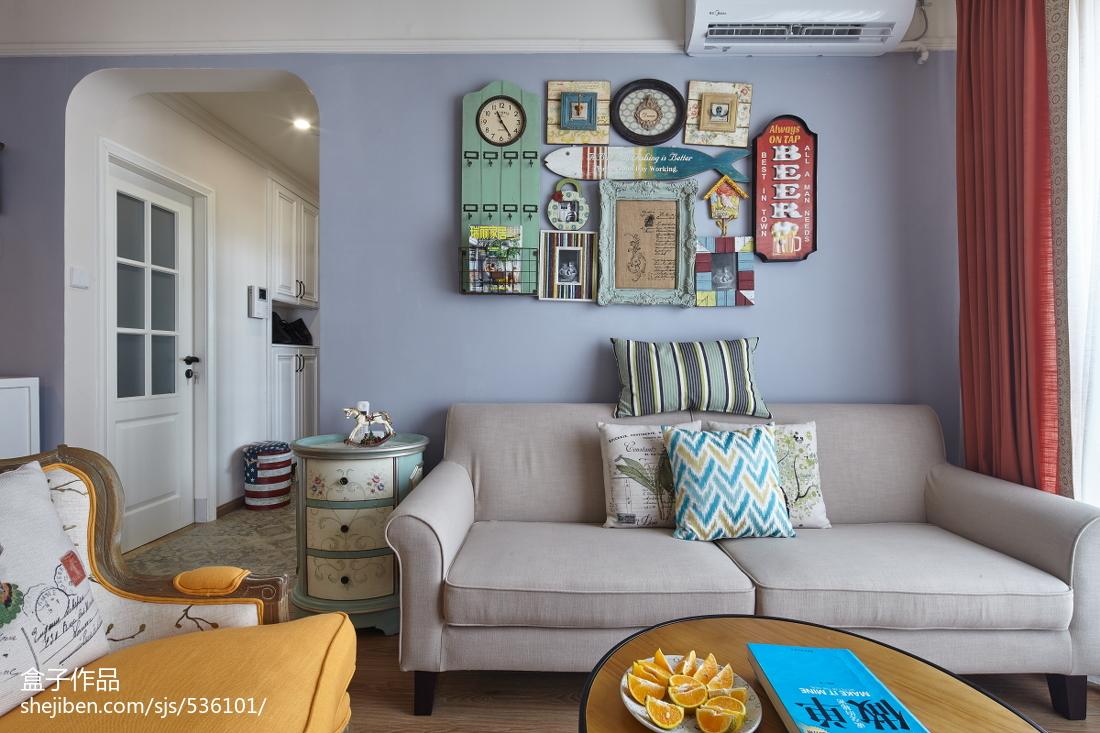 2018大小74平混搭二居客厅装饰图客厅潮流混搭客厅设计图片赏析