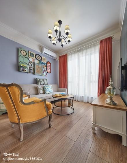 精美大小70平混搭二居客厅装修效果图片大全