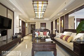 精选大小104平中式三居客厅装修欣赏图片大全三居中式现代家装装修案例效果图