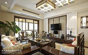 家装美式风格背景墙设计三居中式现代家装装修案例效果图