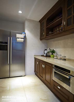 美式格调厨房设计效果图三居中式现代家装装修案例效果图