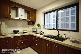 家居美式风格厨房装修案例三居中式现代家装装修案例效果图