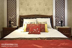 大小97平中式三居卧室设计效果图三居中式现代家装装修案例效果图