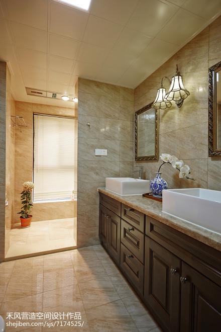 2018面积105平中式三居卫生间欣赏图卫生间