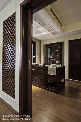精选101平米三居书房中式装修欣赏图三居中式现代家装装修案例效果图