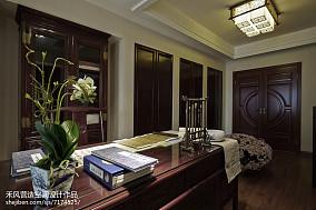 精美109平米三居书房中式效果图片大全三居中式现代家装装修案例效果图