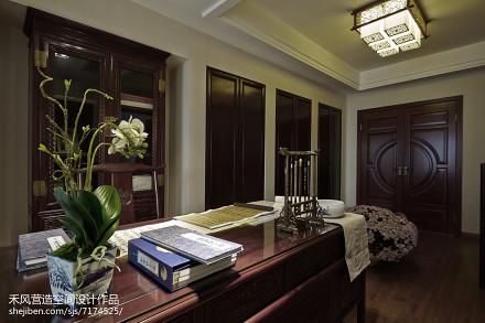 精美109平米三居书房中式效果图片大全