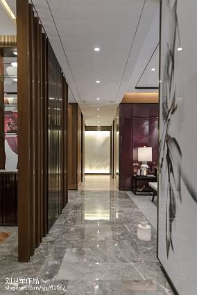 中式过道装饰图样板间中式现代家装装修案例效果图