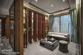 中式格调休闲区设计样板间中式现代家装装修案例效果图