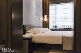 2018精选中式卧室装饰图片大全样板间中式现代家装装修案例效果图