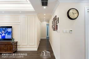 温馨117平美式四居过道装修装饰图功能区美式经典设计图片赏析