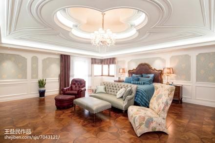 2018面积144平别墅卧室美式装修欣赏图片大全