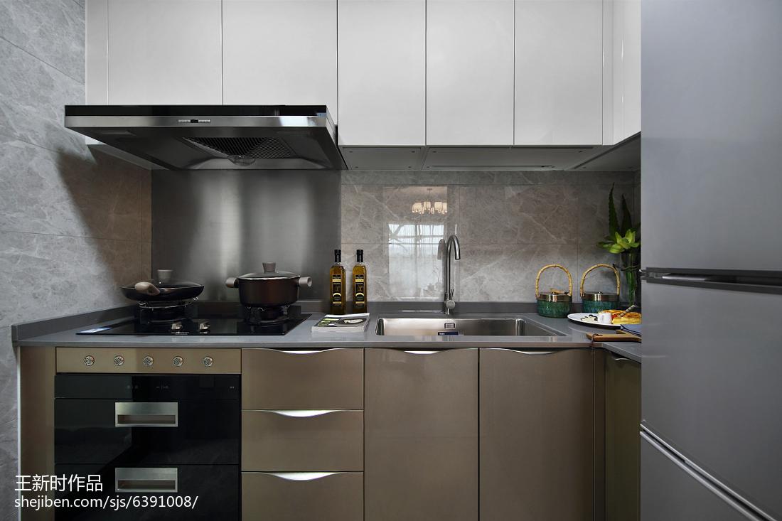 混搭风格橱柜样板房装修餐厅橱柜潮流混搭厨房设计图片赏析