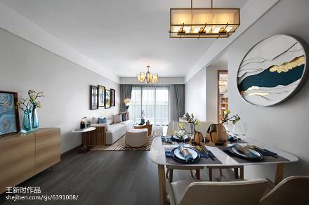 104.4平精美混搭客厅装修图片大全厨房