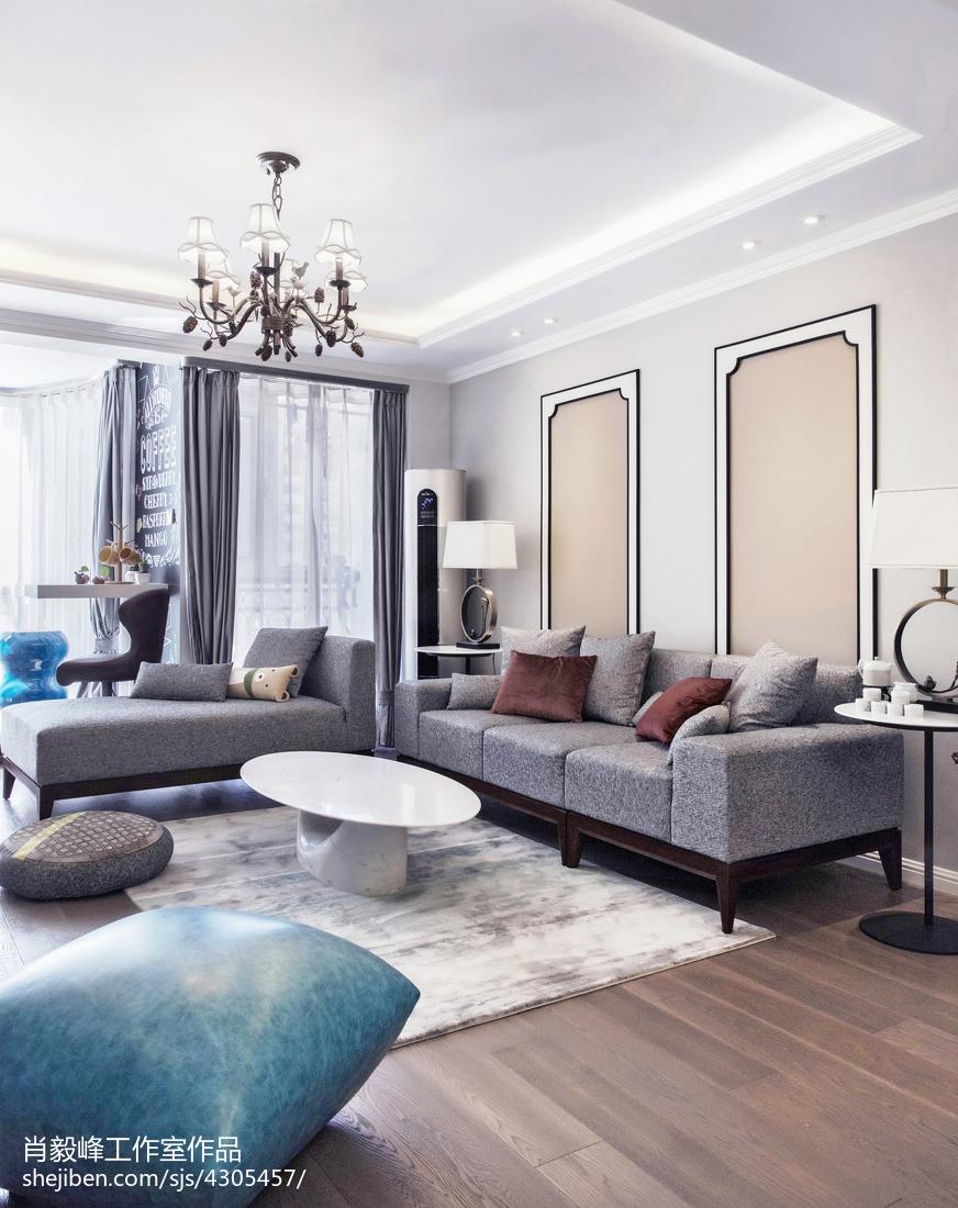 浪漫现代风格客厅装修客厅窗帘现代简约客厅设计图片赏析