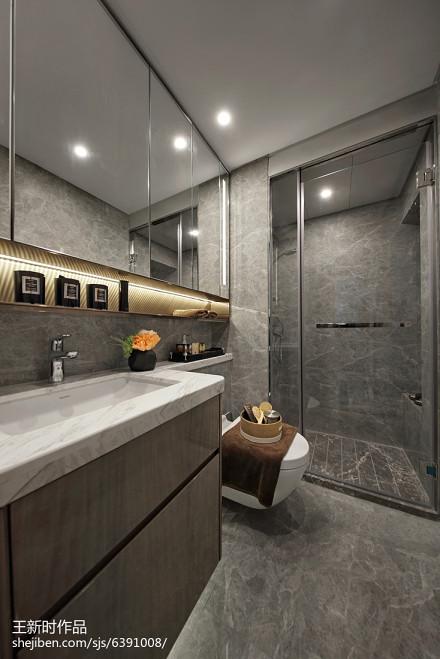 热门混搭卫生间装修设计效果图片欣赏卫生间