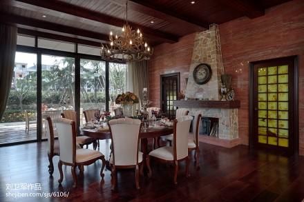 精选面积128平别墅餐厅混搭实景图厨房
