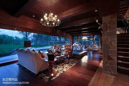 精选127平米混搭别墅客厅设计效果图