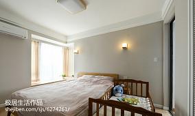 2018精选面积105平日式三居卧室装修效果图片大全