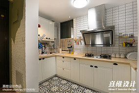 典雅51平混搭二居厨房布置图餐厅潮流混搭设计图片赏析