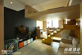 热门90平米混搭小户型客厅实景图片大全