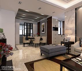 精致130平現代三居餐廳裝修設計圖