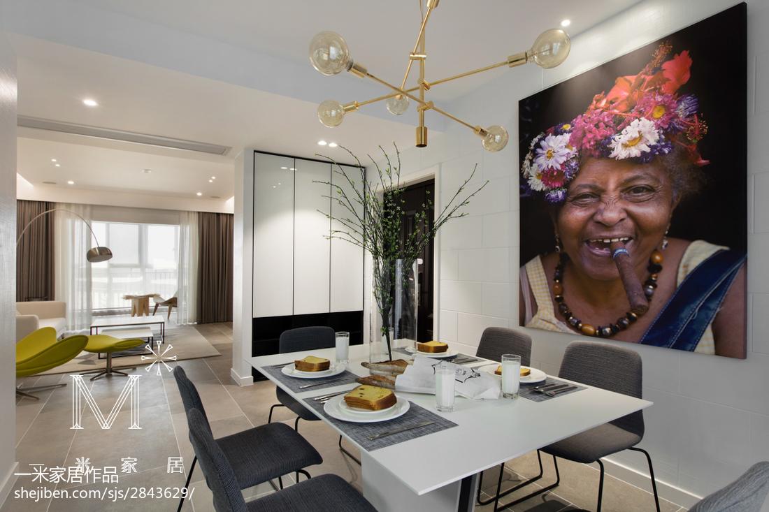 2018精选面积103平现代三居餐厅装修效果图片厨房1图