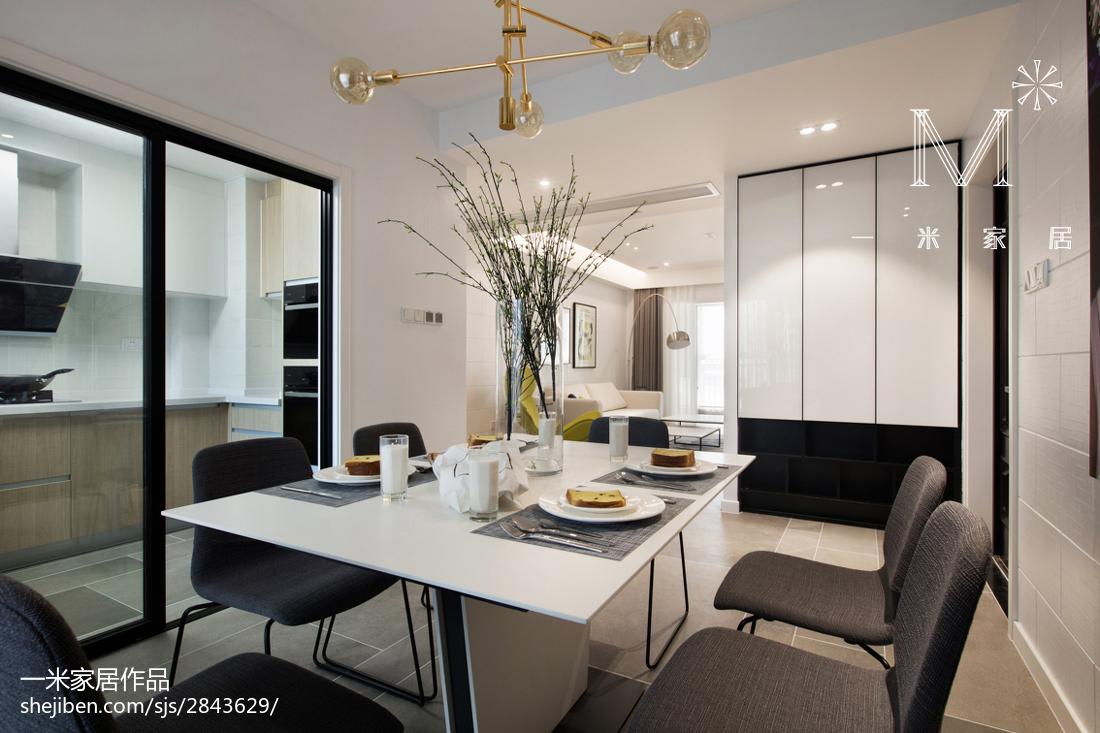 2018精选面积98平现代三居餐厅装修效果图片大全厨房2图